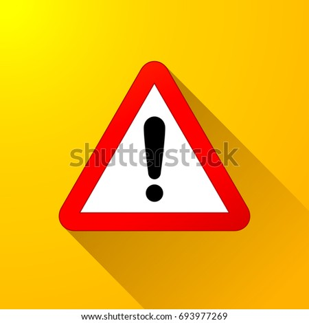 Illustration of warning sign on yellow background