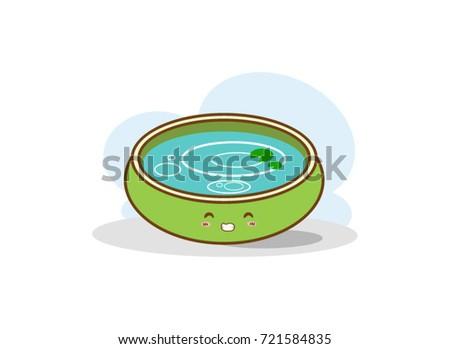 illustration of water basin on