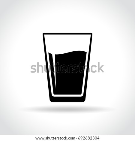 illustration of water glass