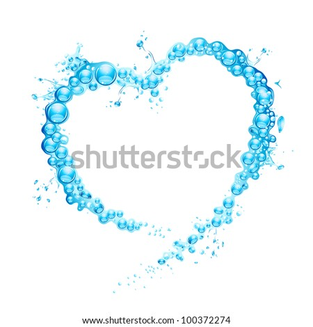 illustration of water splash