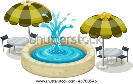 illustration of water splash on