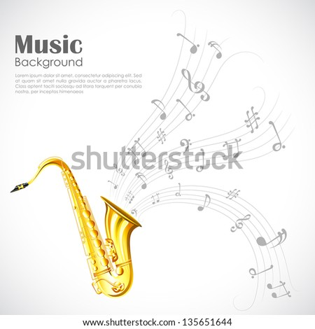 illustration of wavy music tune from saxophone