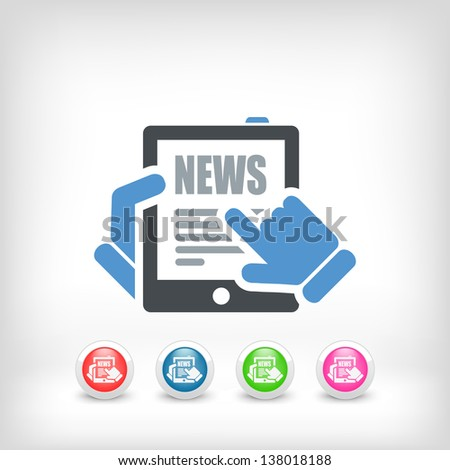 Illustration of web journal news icon