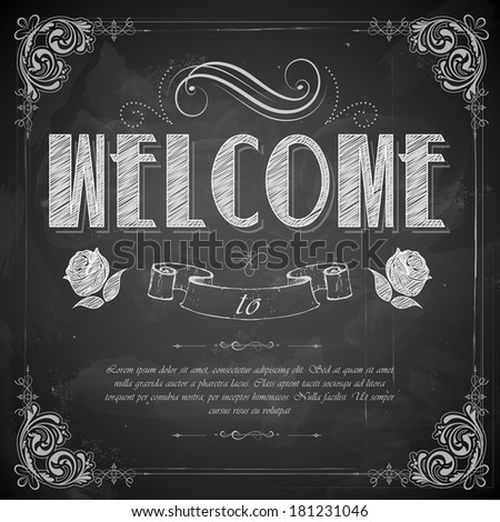 illustration of welcome written ...