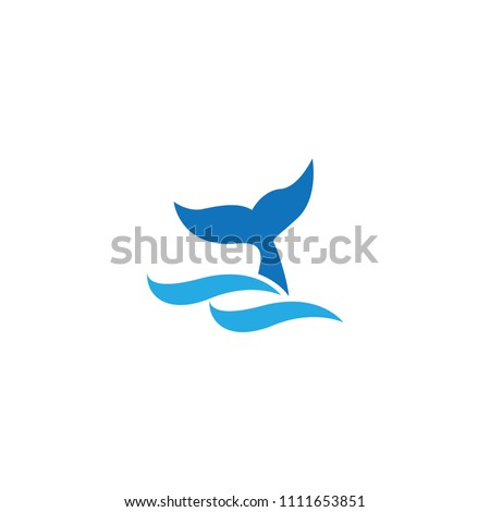 illustration of whale tail on...