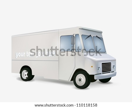 Illustration of white delivery truck