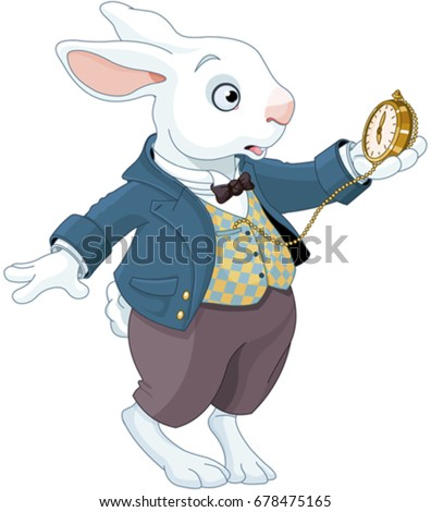 illustration of white rabbit