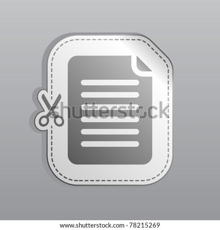 Illustration of white sticker note icon