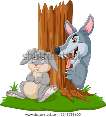 illustration of wolf hunt a
