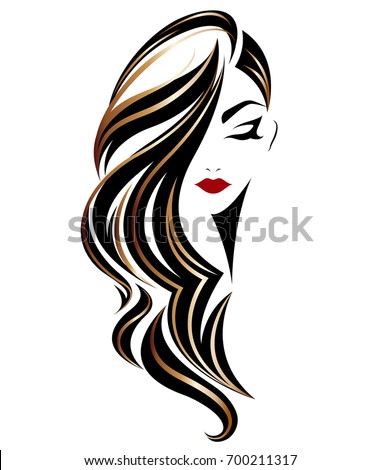 illustration of woman long hair
