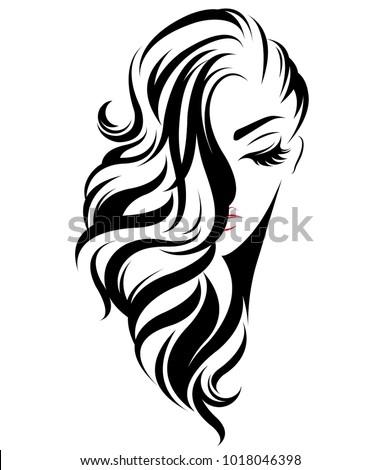 illustration of women long hair
