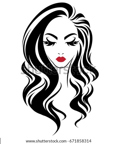 illustration of women long hair