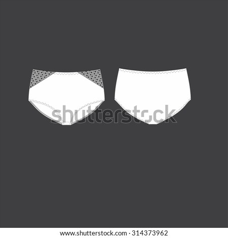 illustration of women's panties