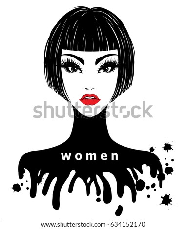 illustration of women short