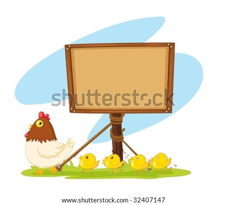 illustration of wooden board on white
