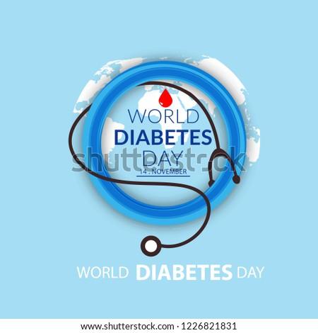 Illustration Of World Diabetes Day.