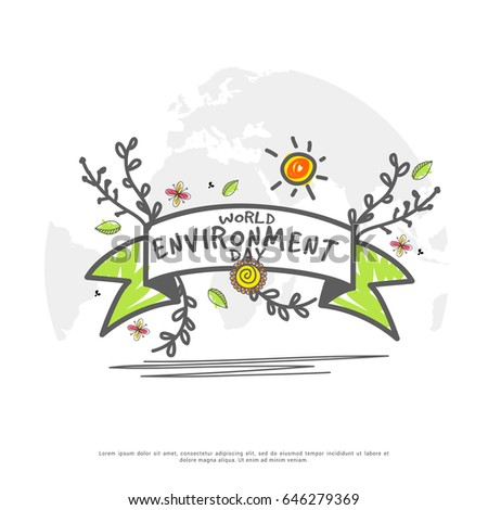 Illustration Of World Environment Day.