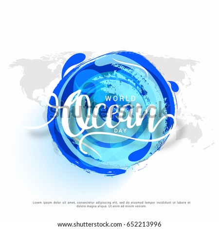 illustration of world ocean day