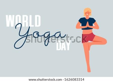 illustration of  world yoga day