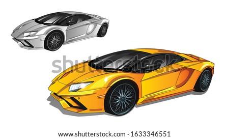 illustration of yellow sport
