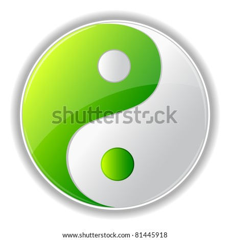 illustration of yin yang symbol on white background