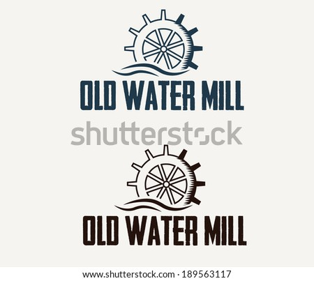 illustration old water mill