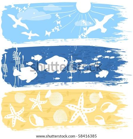 Illustration on a sea theme