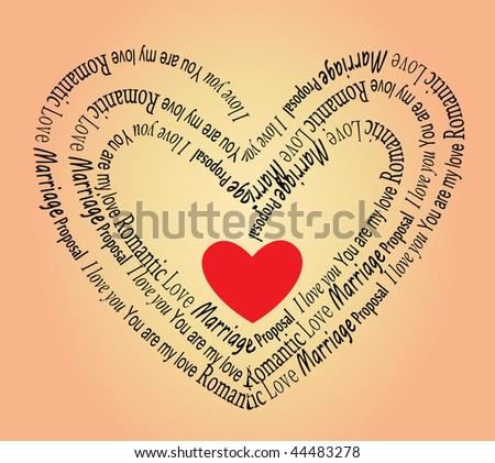 Illustration on the love and Valentine. Vector - stock vector