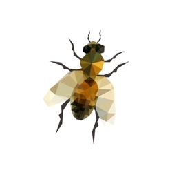 Illustration origami bee isolated on white background