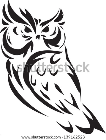 illustration Owl outline