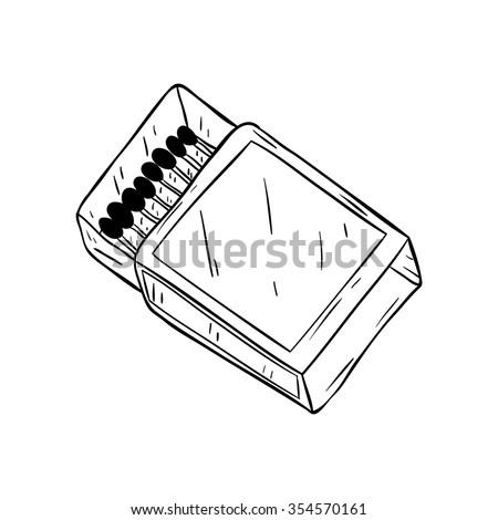 Open Matchbox with Matches Vector Clip Art | 123Freevectors