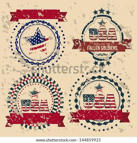 Illustration patriot united states of america, usa poster, vector illustration