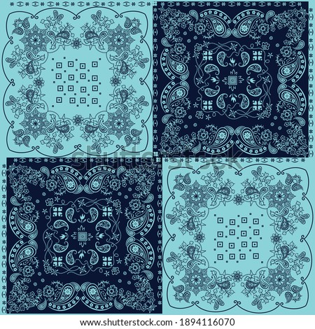 Illustration pattern paisley design for fashion application or other products Photo stock ©