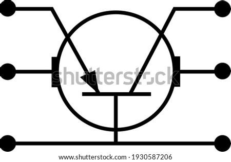 illustration pictogram sign transistor schematic image logo Zdjęcia stock ©