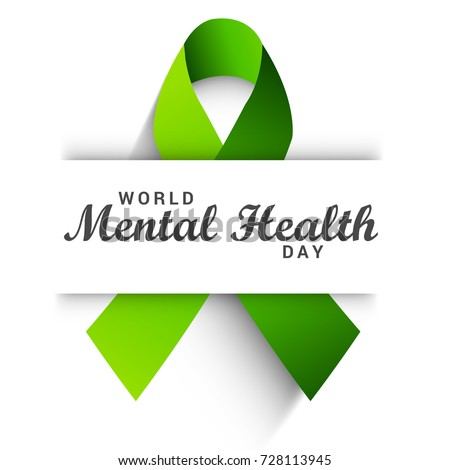 Illustration,Poster Or Banner Of World Mental Health Day.