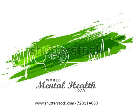 Illustration,Poster Or Banner Of World Mental Health Day.
