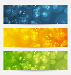 Illustration set of abstract backgrounds with bokeh effect - vector