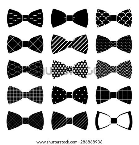 illustration set of bow tie in vector on white background Stock fotó ©