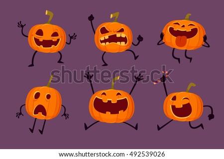 illustration set of halloween