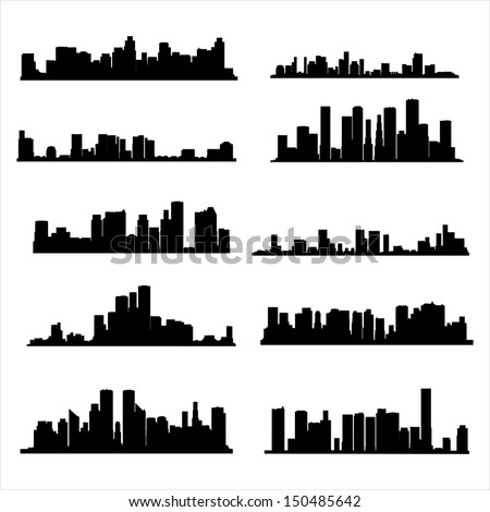 illustration  silhouette city