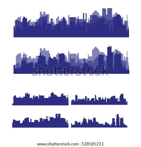 illustration silhouette city