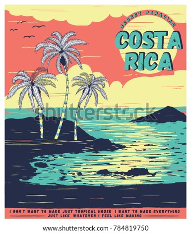 illustration sketch costa rica