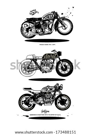 illustration sketch motorcycle