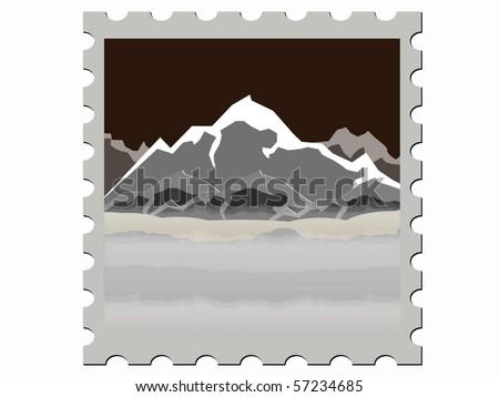 illustration  stamp vector illustration  night