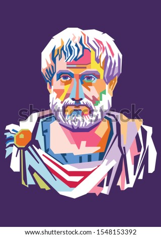 Illustration style,isolated style,wpap style of Aristotle