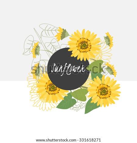 illustration sunflower flower