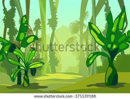 illustration sunny morning in