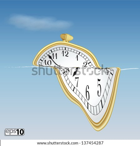 Illustration surreal soft clock