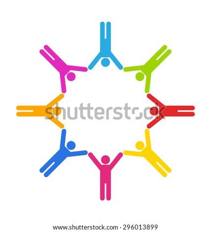 illustration team colorful