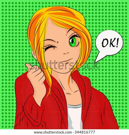 illustration teen girl for